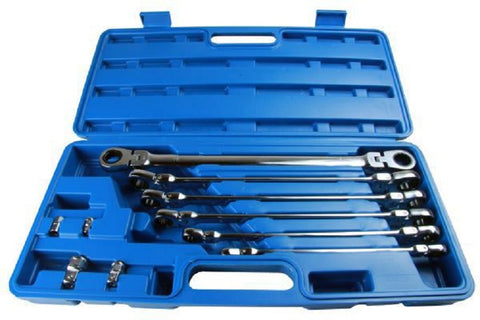 US Pro Extra Long Double Flexi Head Ratchet Spanners