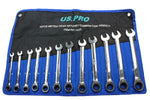US Pro 12PC Metric Combination Gear Ratchet Set