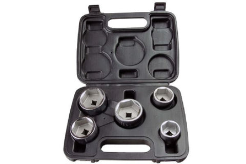 "US PRO 5 Pce 3/8"" Cup Type Drive Oil Filter Wrench Set"