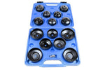 US Pro 15 Pc Cup Type Oil Filter Wrench Set
