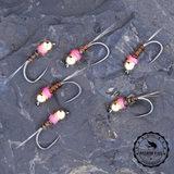 6 French Nymphs aka Frenchie Nymph available in tungsten and brass bead heads