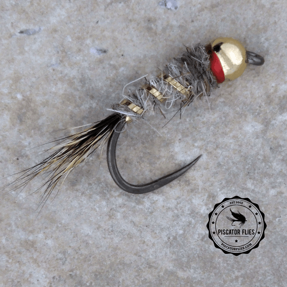 BH Gold Ribbed Hare's Ear Nymph (red)