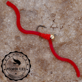 Squirmy Wormy Fly Fishing Blood Red