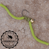 Squirmy Wormy Fly Fishing Worm Green