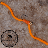 Squirmy Wormy Fly Fishing Orange