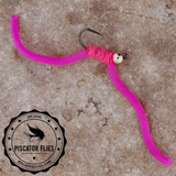 Squirmy Wormy Fly Fishing Pink
