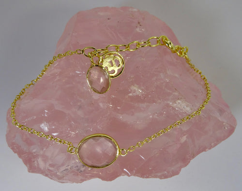 Citrine and Gold Om Bracelet