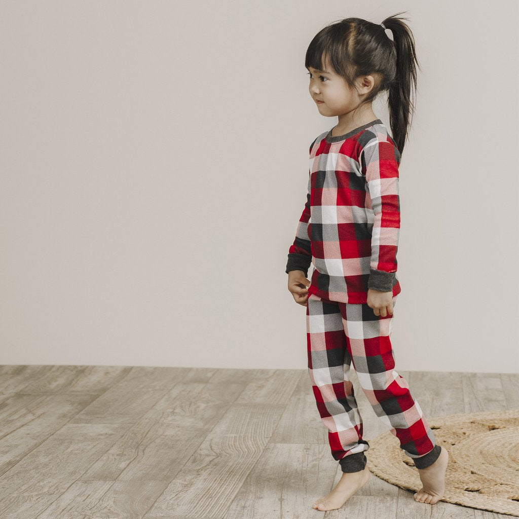 Red Plaid Pyjama Set - Lullaby's Boutique