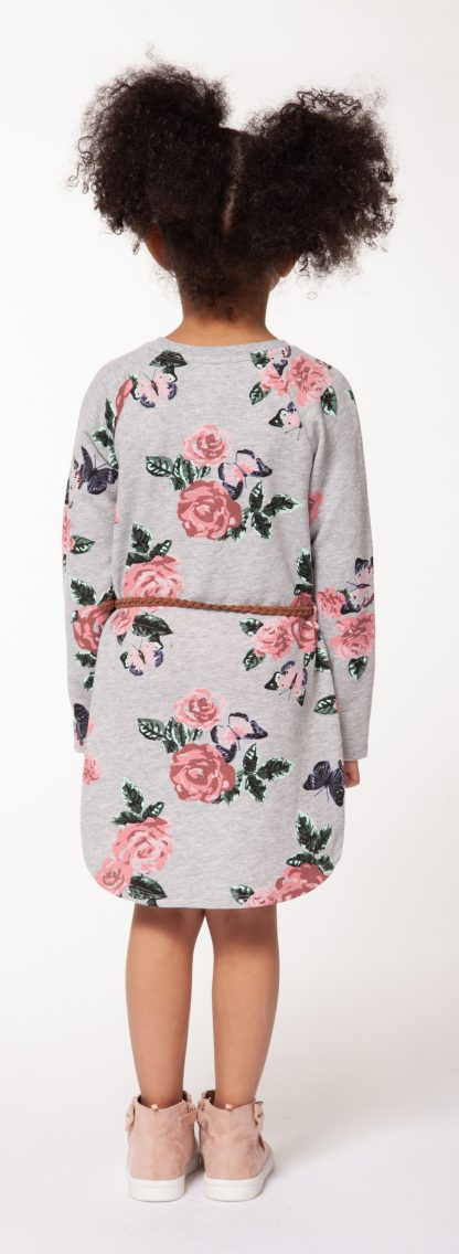 Floral Belted Sweater Dress - Lullaby's Boutique