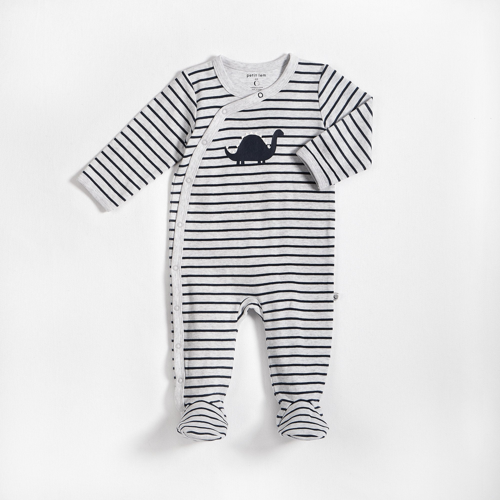 Dinosaur Striped Sleeper - Lullaby's Boutique