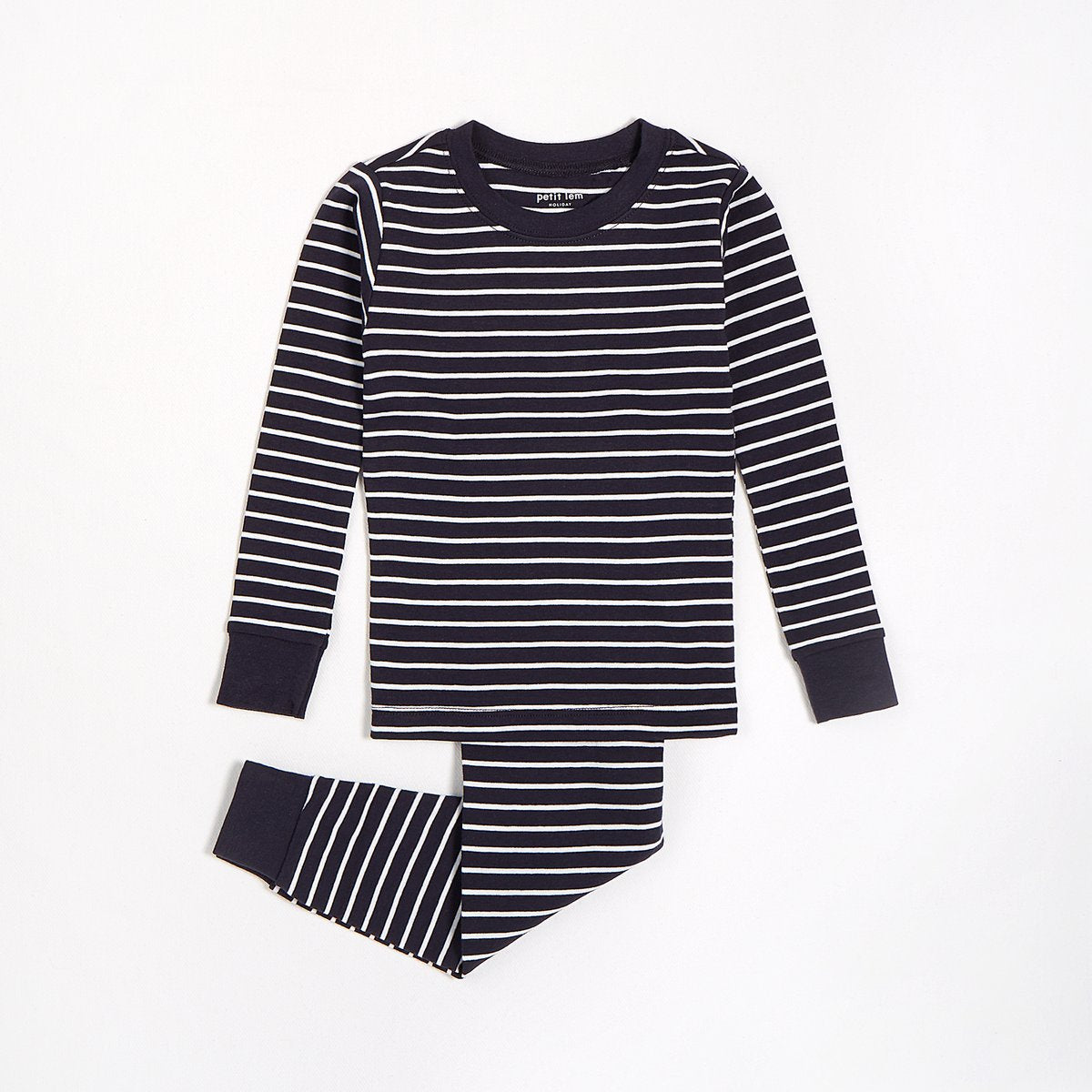 Navy & Grey Striped Pyjama Set - Lullaby's Boutique