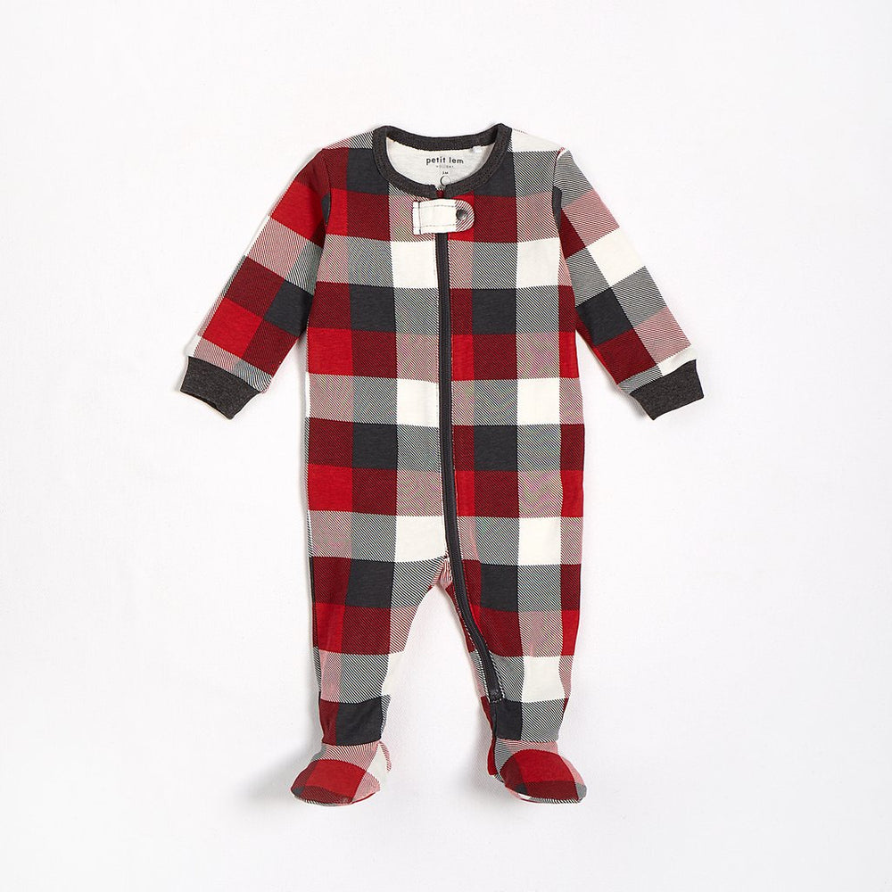 Red Plaid Sleeper - Lullaby's Boutique