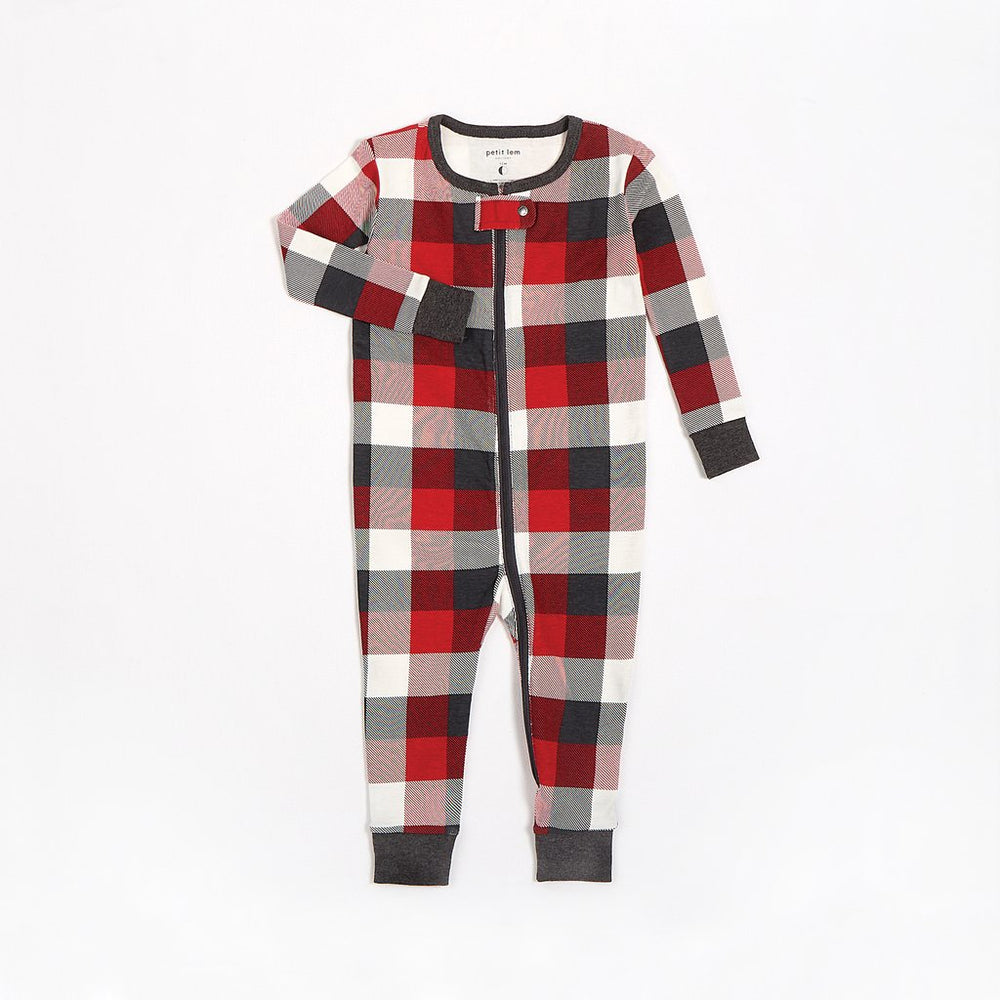 Red Plaid Romper - Lullaby's Boutique
