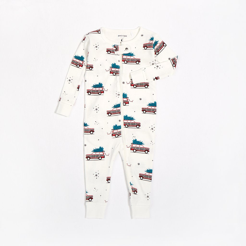Festive Car Romper - Lullaby's Boutique