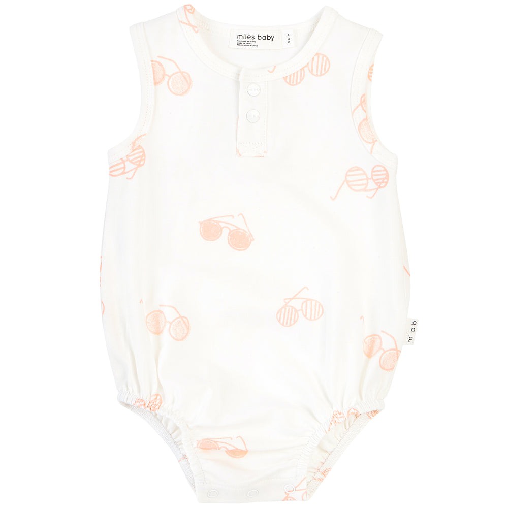 Off-White Sunglasses Print Romper - Lullaby's Boutique