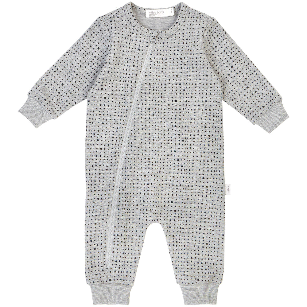 Miles Basic Heather Grey Splashed Playsuit - Lullaby's Boutique