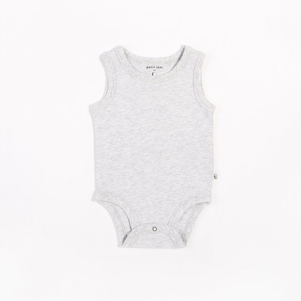 Heather Grey Tank Onesie - Lullaby's Boutique