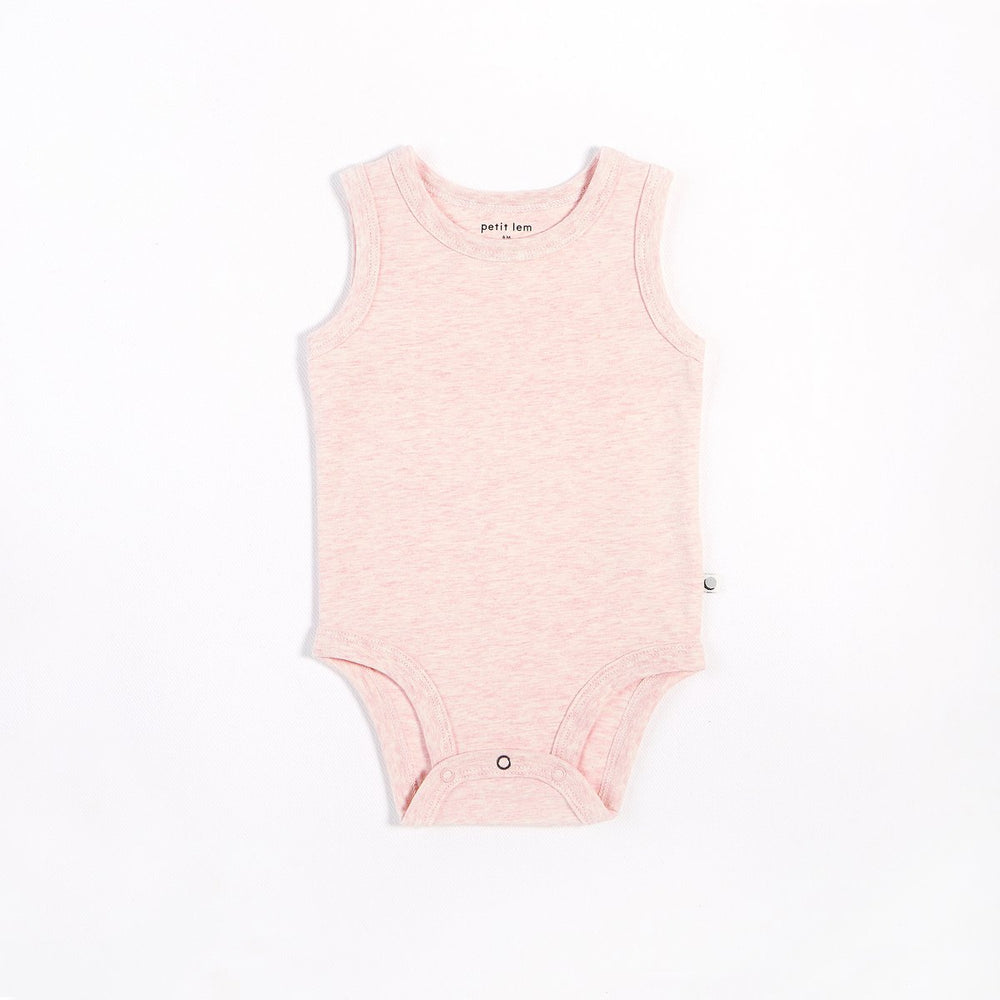Heather Pink Tank Onesie - Lullaby's Boutique