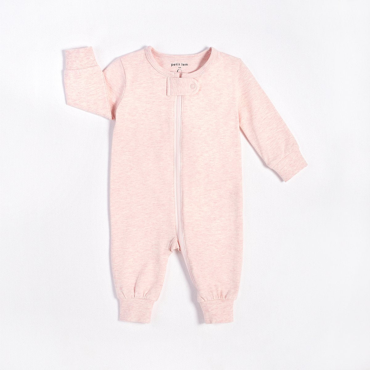 Heather Pink Playsuit in Organic Cotton - Lullaby's Boutique
