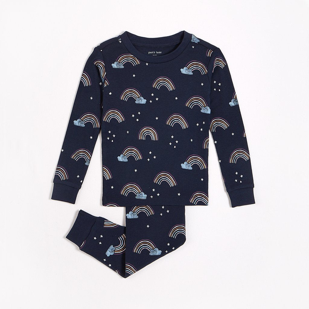 Rainbow Navy Pyjama Set
