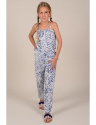 Blue Bird Print Romper - Lullaby's Boutique