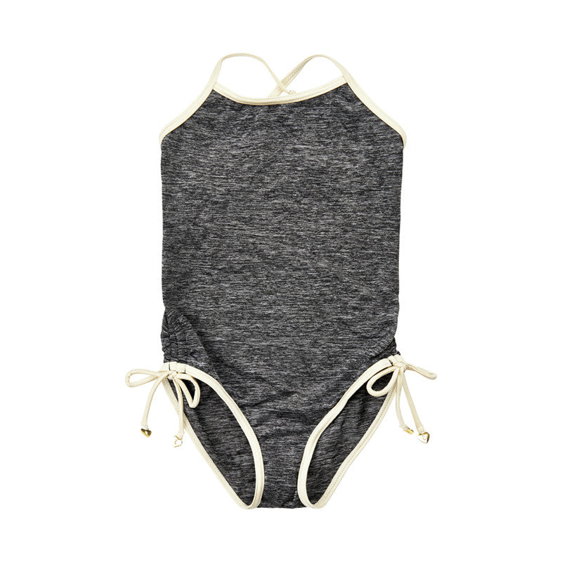 Dark Grey Swimsuit - Lullaby's Boutique