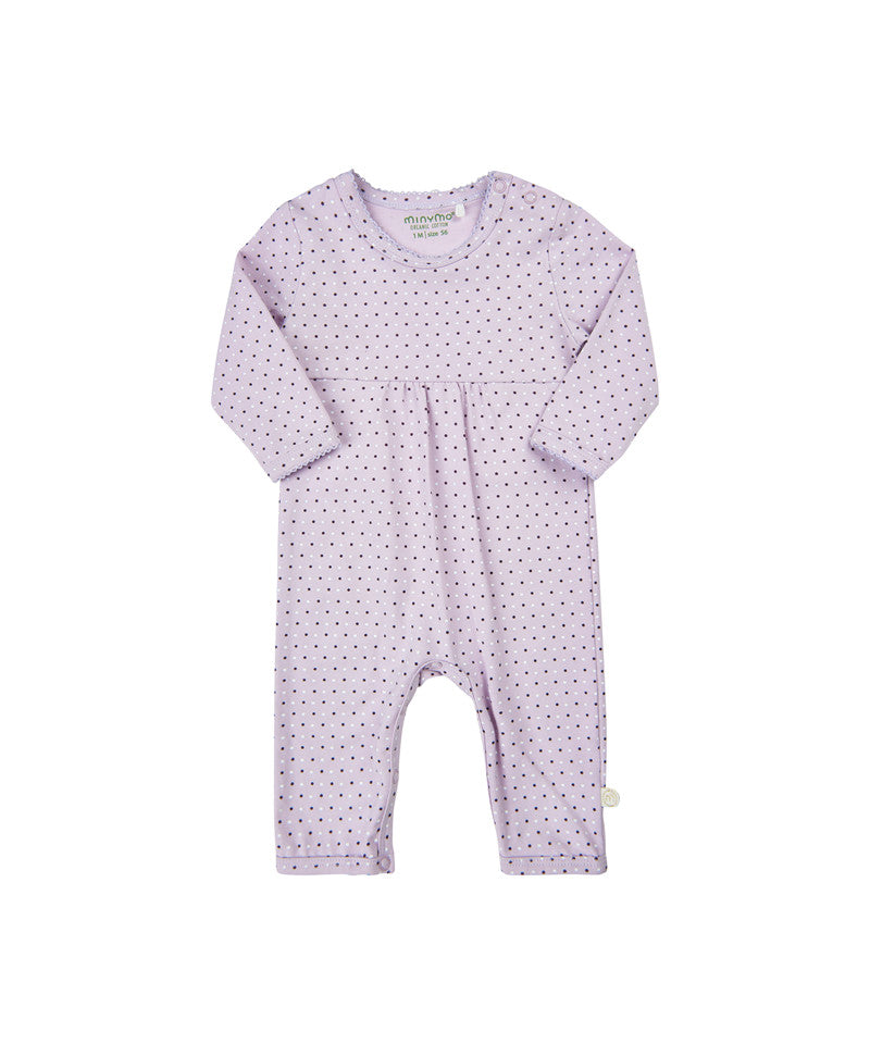 Purple Polkadot Playsuit - Lullaby's Boutique