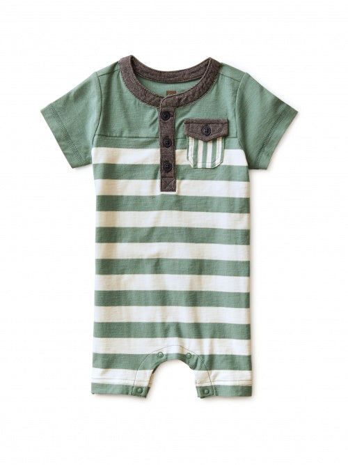 Colourblock Henley Romper - Lullaby's Boutique