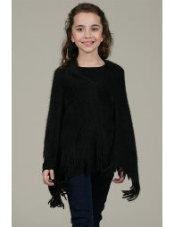 Poncho with Fringe - Lullaby's Boutique