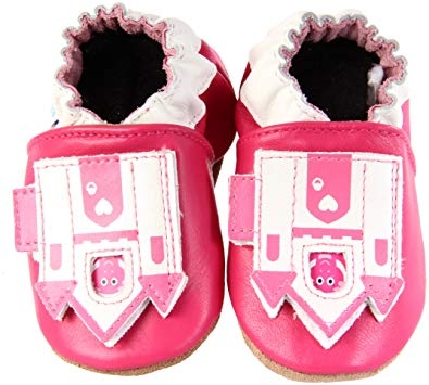 Peek a Roo Castle Soft Soles - Lullaby's Boutique