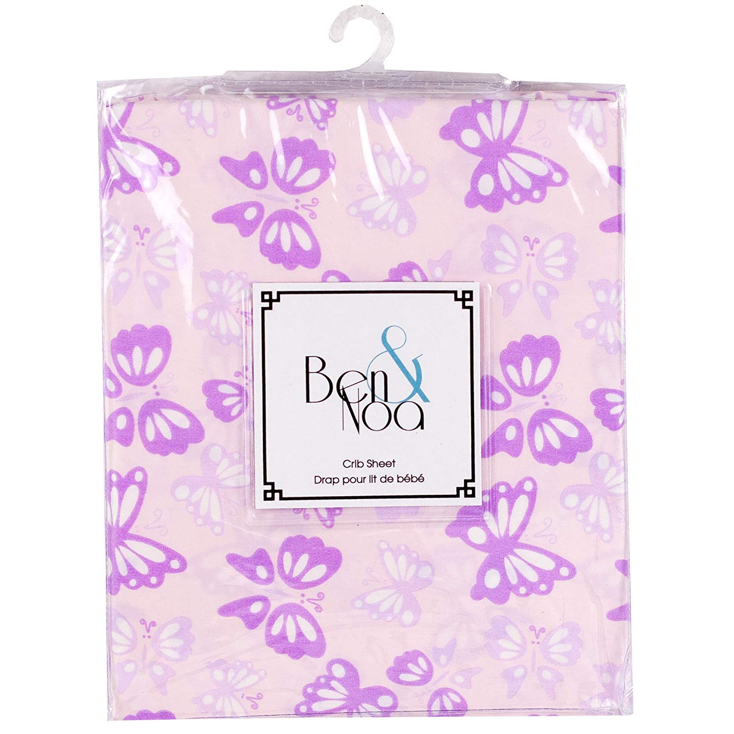 Pink Butterfly Crib Sheet - Lullaby's Boutique