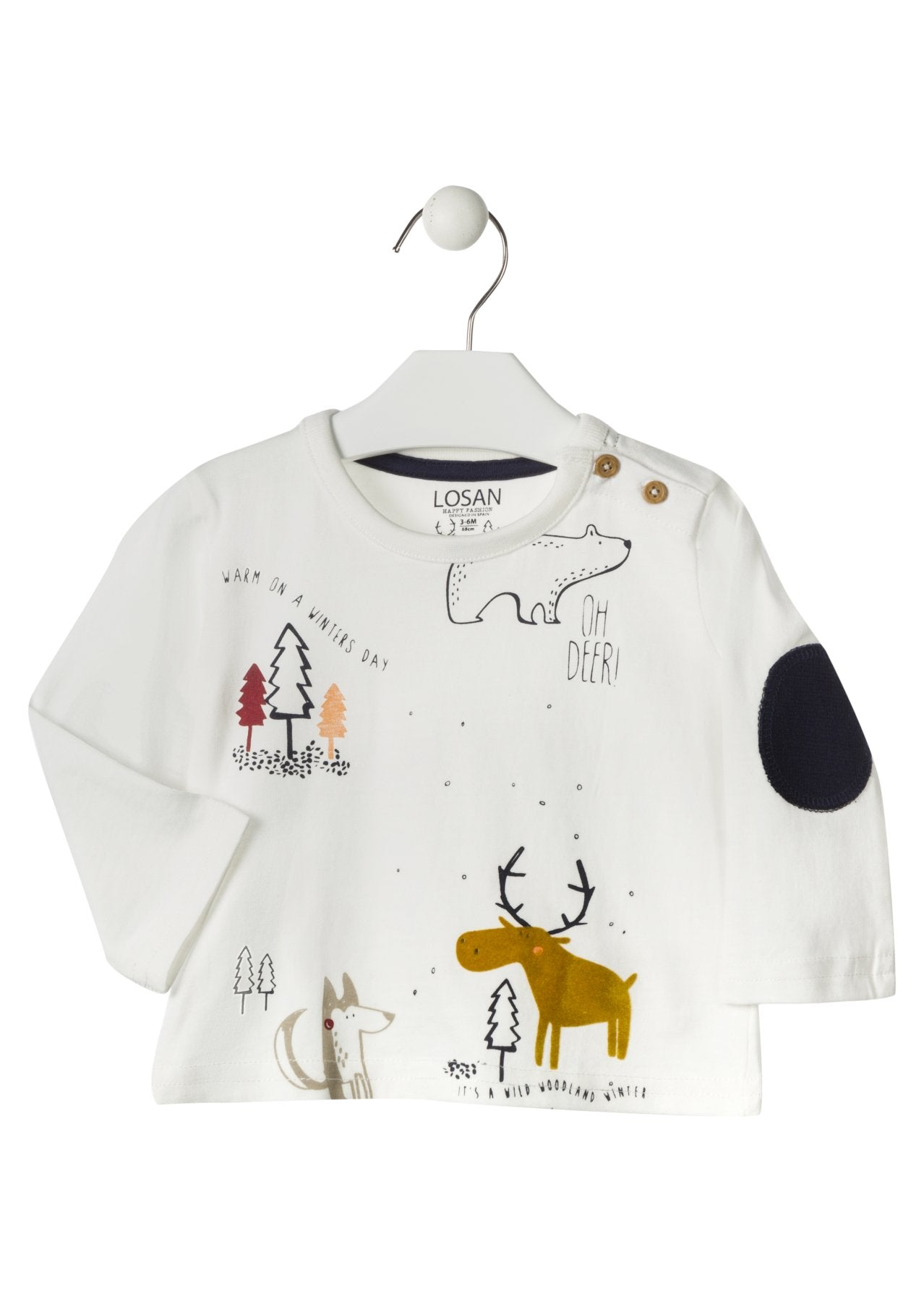 Forest Friends Winter Long-Sleeve Shirt - Lullaby's Boutique