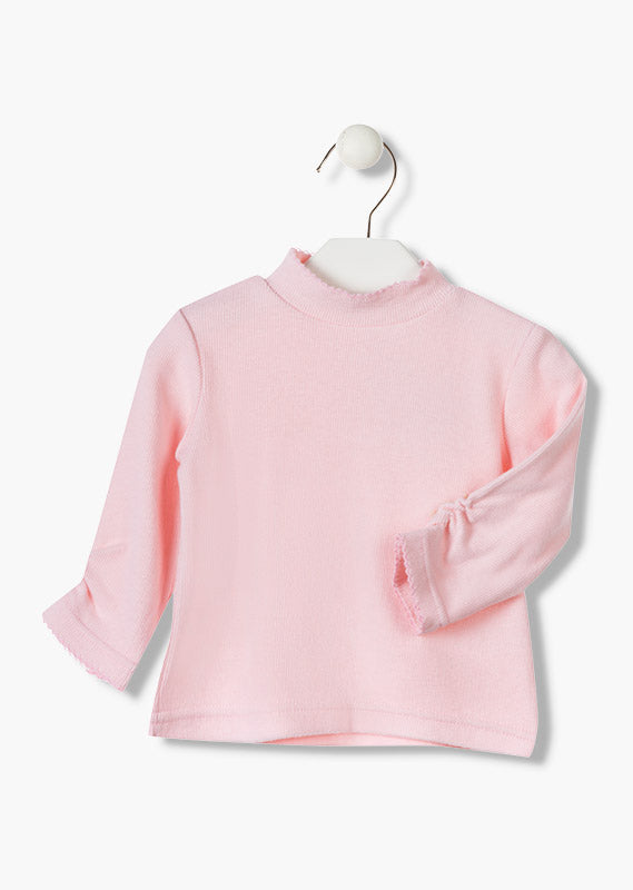 Rib Knit T-Shirt in Pink - Lullaby's Boutique