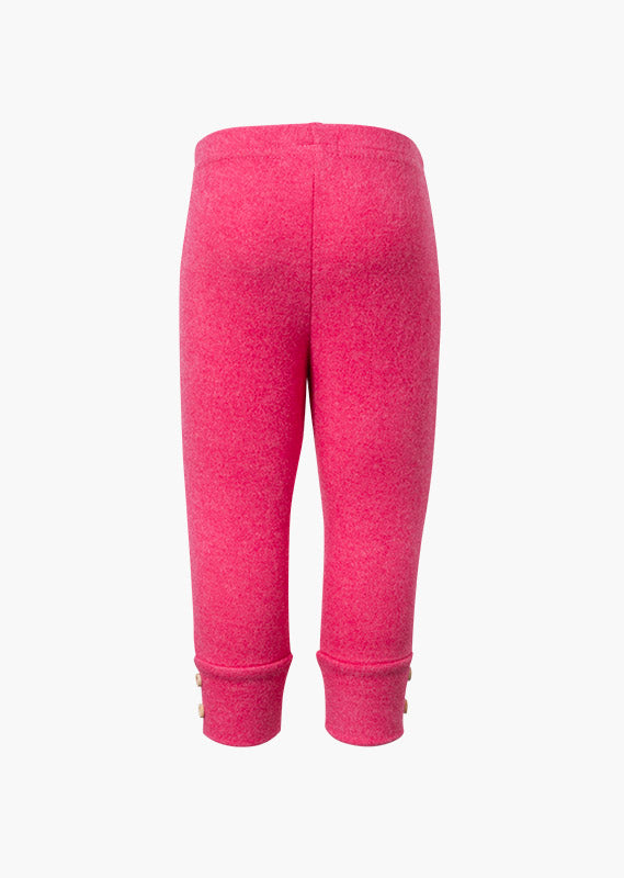 Plush Pink Leggings with Button Detail - Lullaby's Boutique