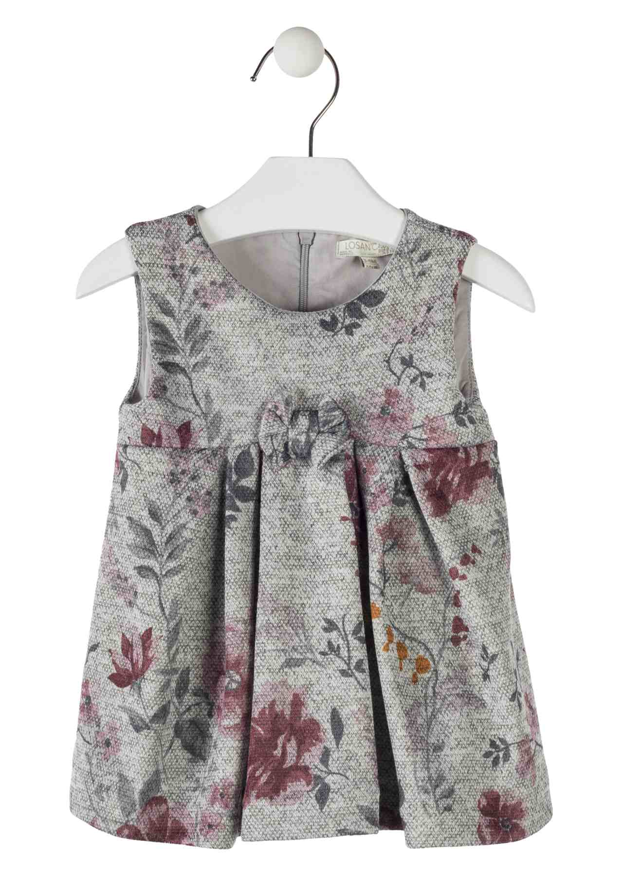 Floral Dress with Bow Detail - Lullaby's Boutique