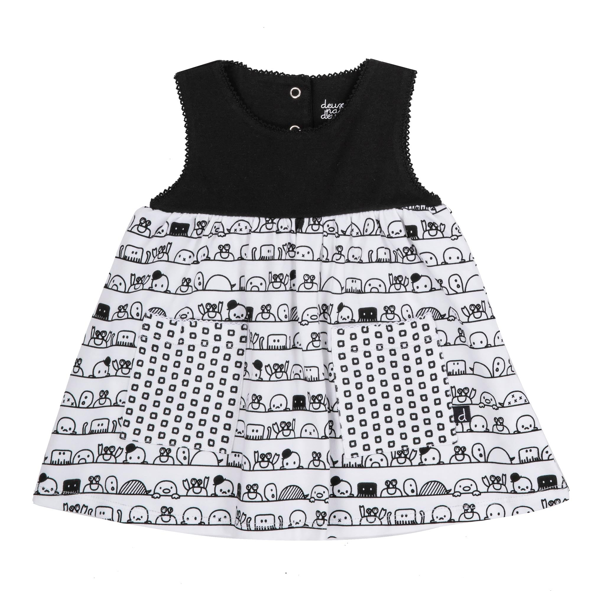 Doodle Black and White Tunic and Leggings Set - Lullaby's Boutique