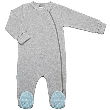 Classics Side Zip Sleeper Grey & Blue - Lullaby's Boutique