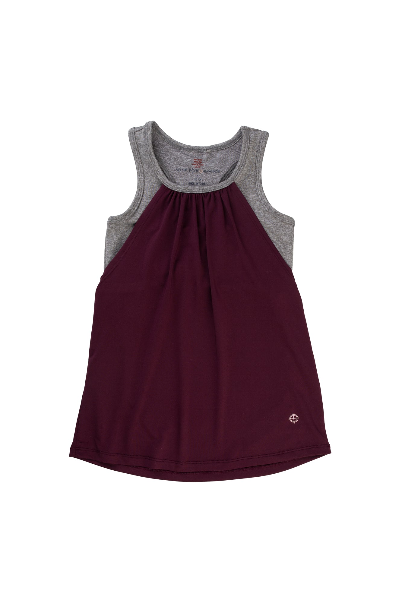 Plum & Grey Sport Active Tank - Lullaby's Boutique