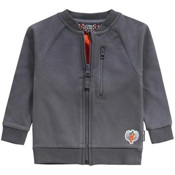 Boom Shakalaka Zip Up Sweater Grey - Lullaby's Boutique