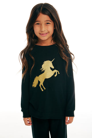 Gold Unicorn Silhouette Sweater - Lullaby's Boutique