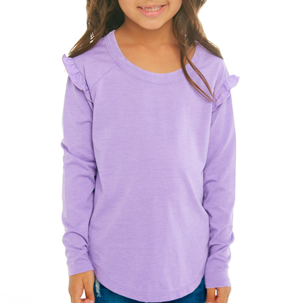 Purple Ruffle Shirt - Lullaby's Boutique