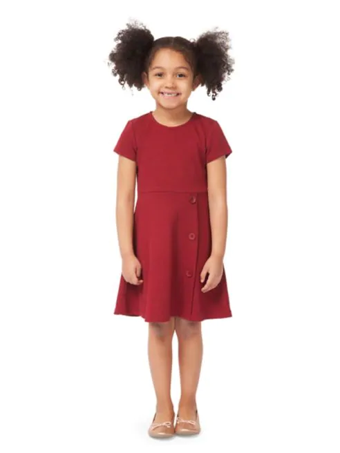 Scoop Neck A-Line Red Ribbed Dress - Lullaby's Boutique