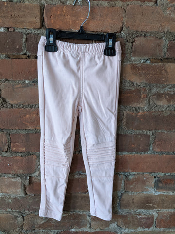 Dusty Pink Moto Jeggings - Lullaby's Boutique