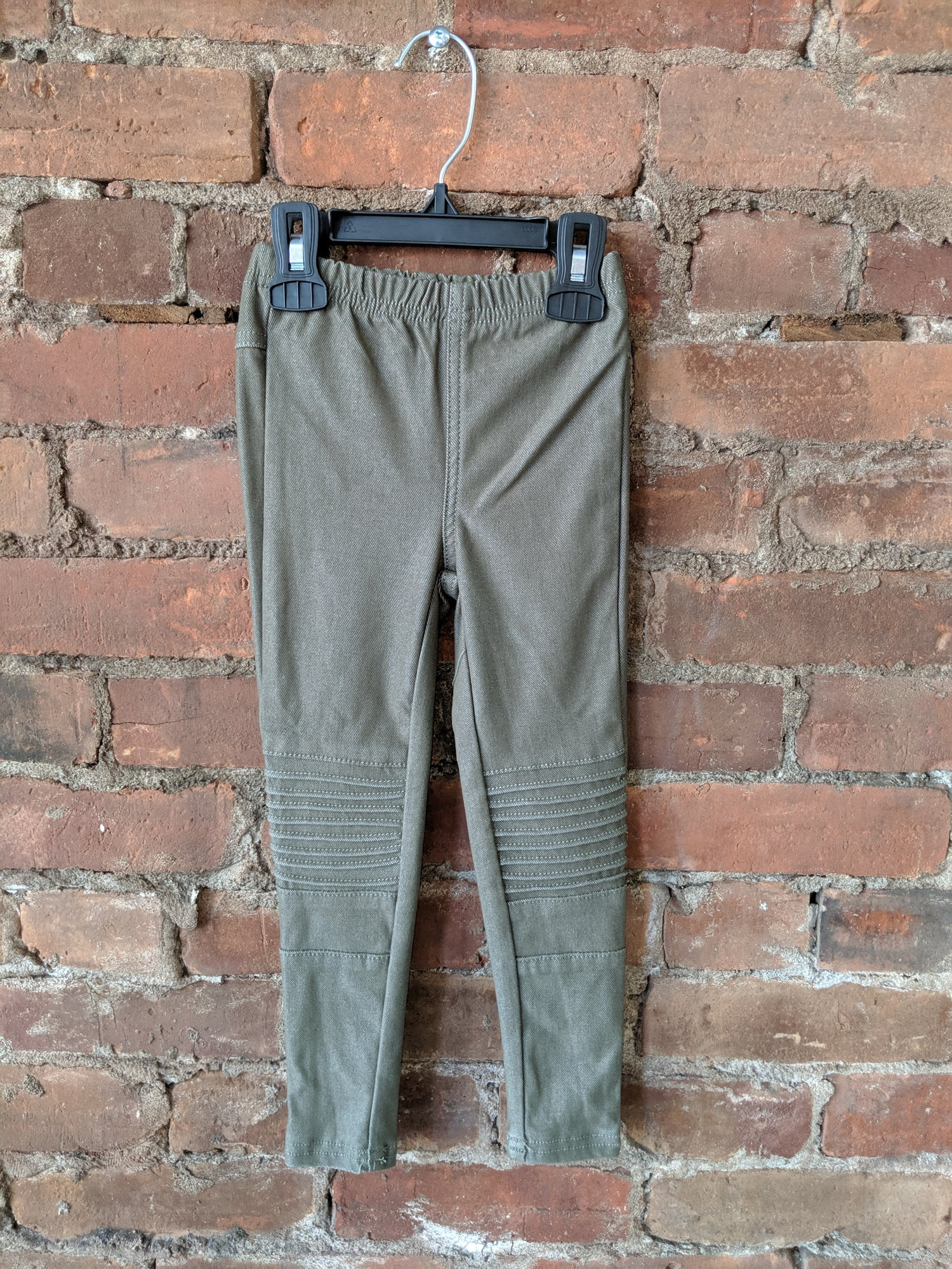 Khaki Green Moto Jeggings - Lullaby's Boutique