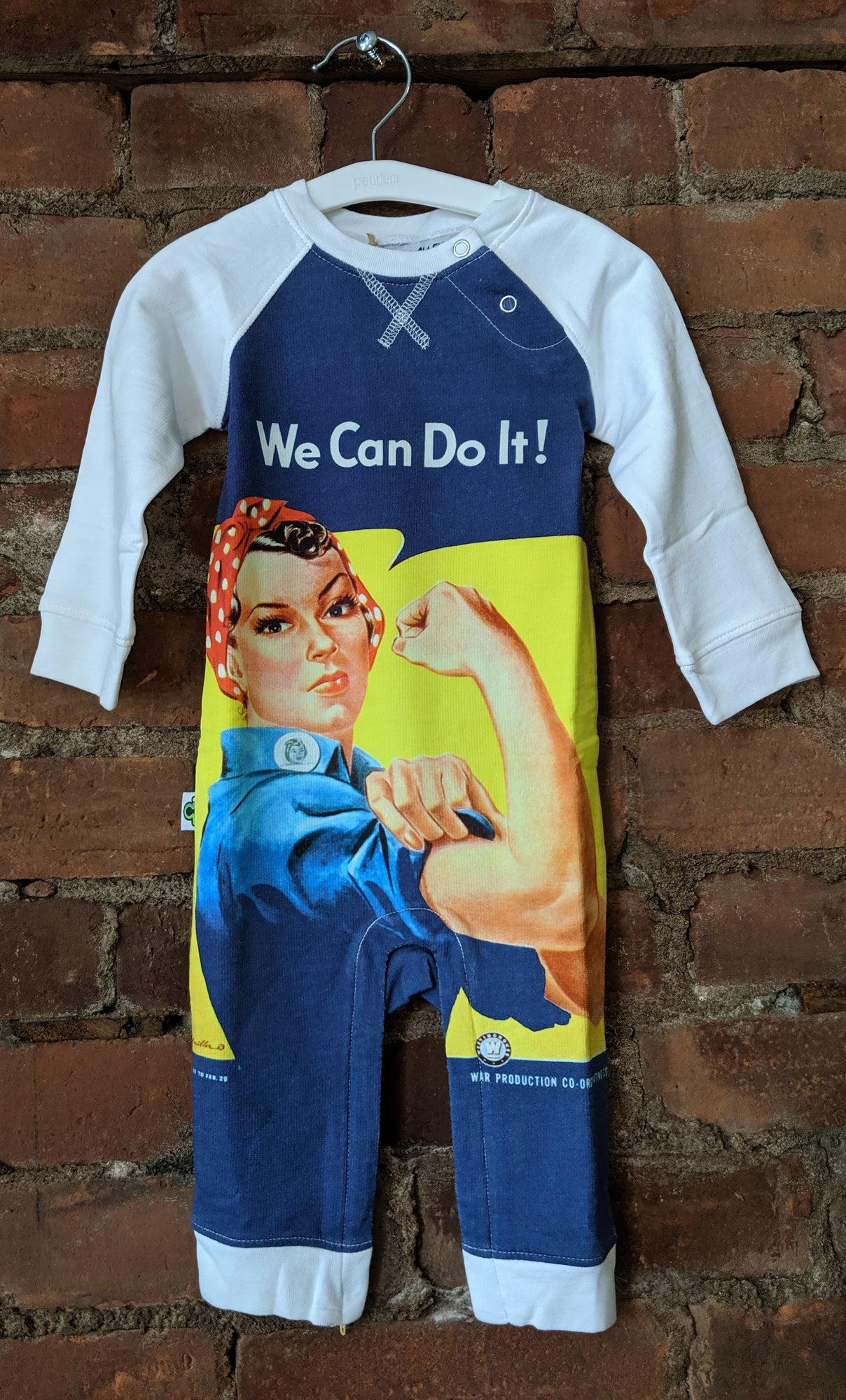 We Can Do It - Rosie Riveter Playsuit - Lullaby's Boutique