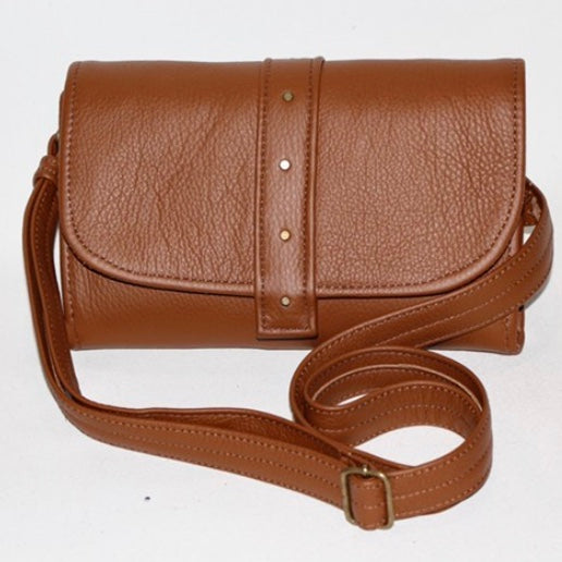 The Natalie - Leather Diaper Clutch