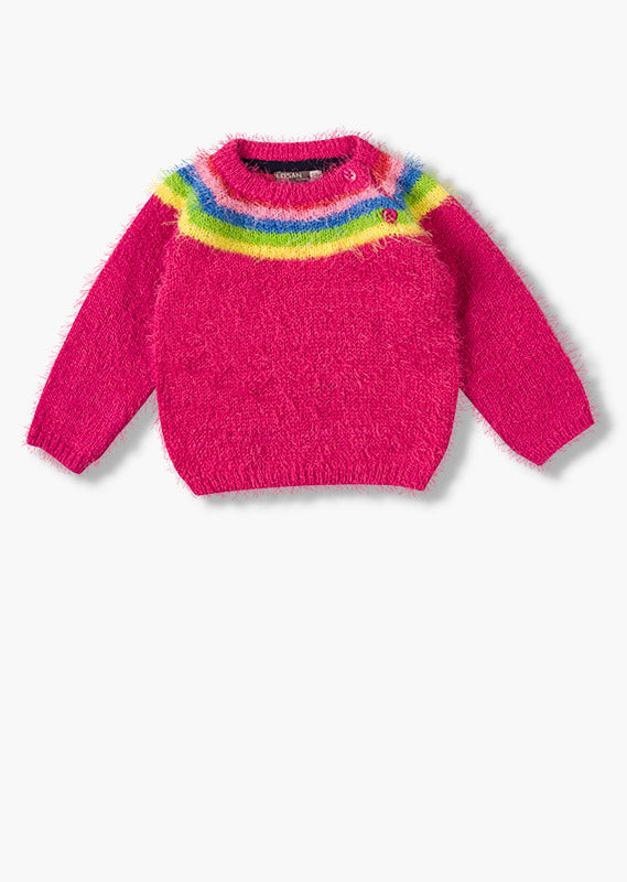 Rainbow Stripe Sweater - Lullaby's Boutique