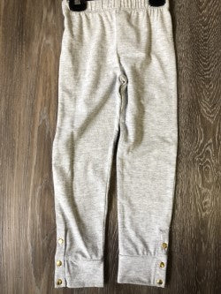 Grey Leggings with Gold Studs on Cuff - Lullaby's Boutique