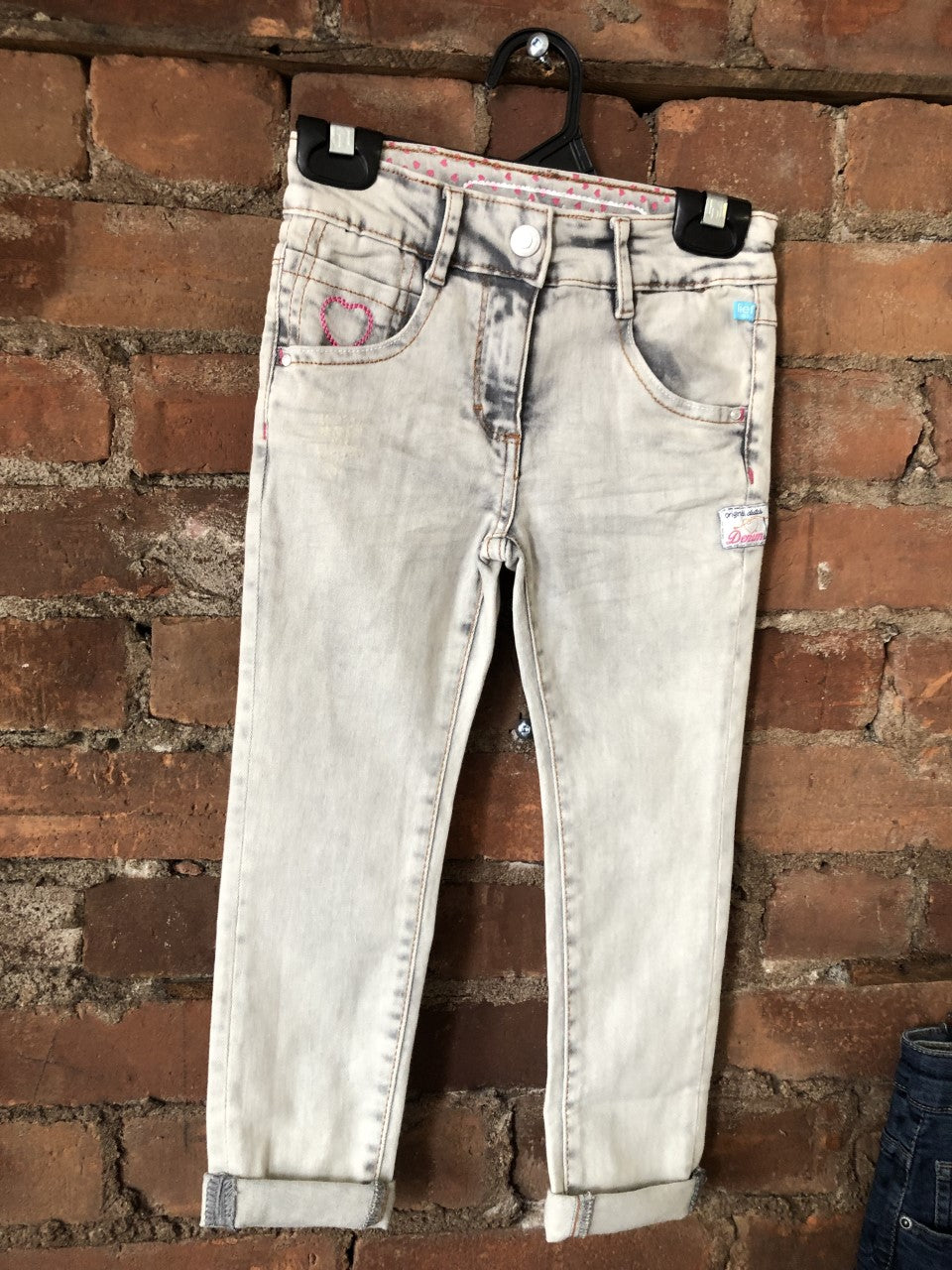 Faded Jeans with Cuffed Hem - Lullaby's Boutique