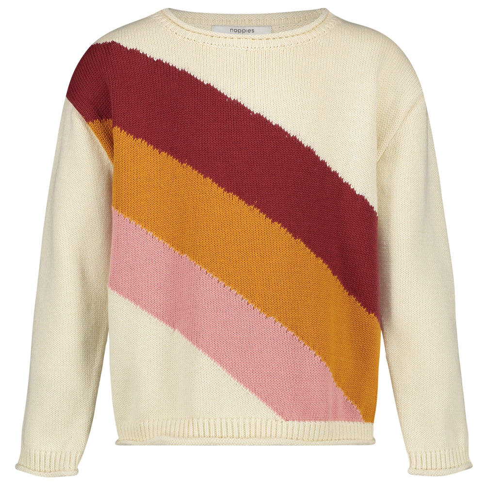 Stripe Colourblock Knit Pullover Chowchilla - Lullaby's Boutique